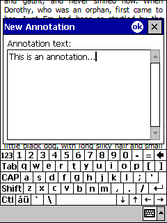 the annotation box